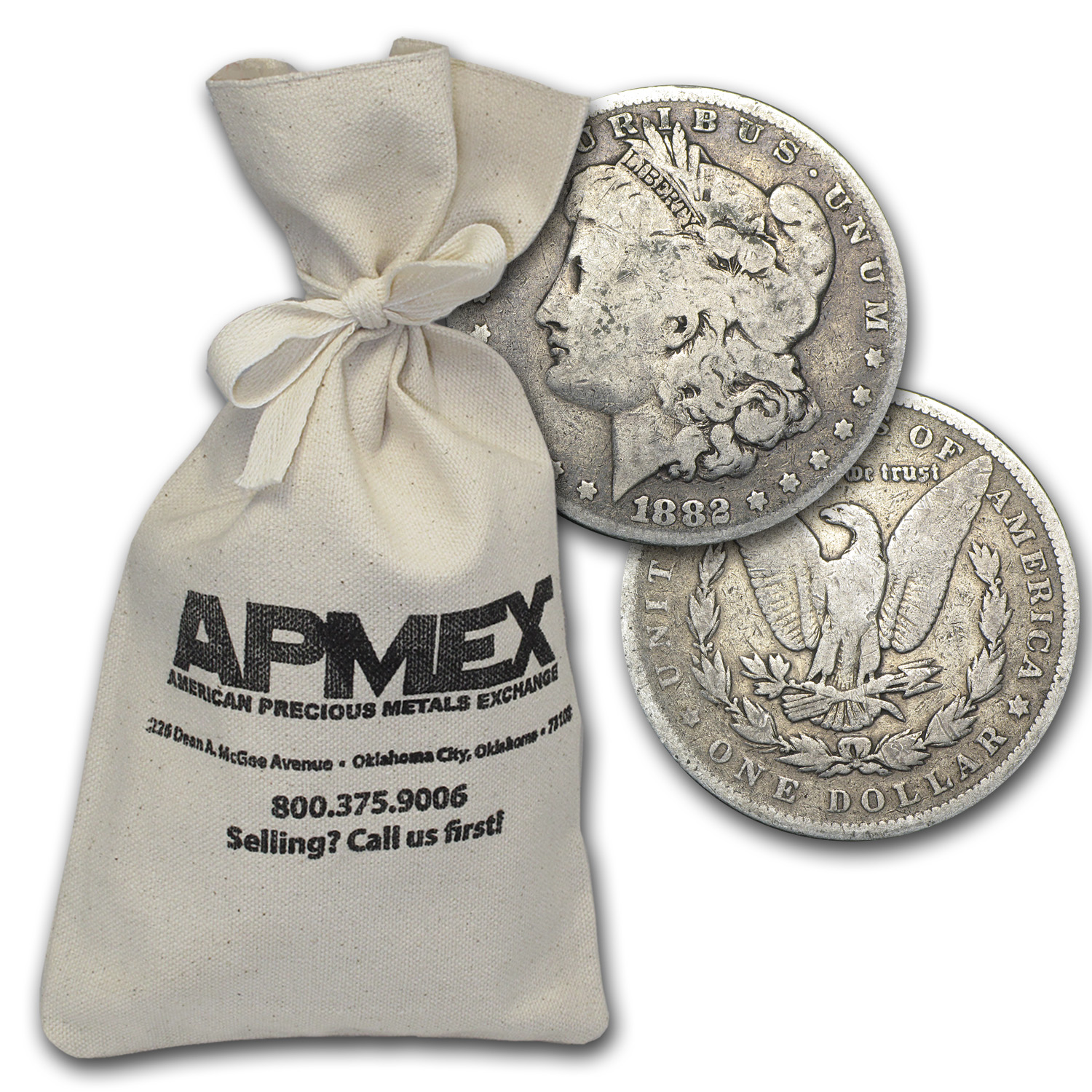 1878-1904 Morgan Silver Dollars 100-Coin Bag (Good or Better)